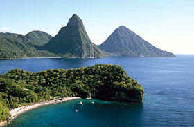 Twin Pitons auf St. Lucia