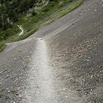 steiler Wanderweg im Torres del paine Nationalpark