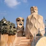 Skulpturen auf dem Dach des Casa Mila