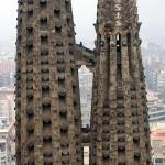 Besucher auf den Türmen der Sagrada Familia