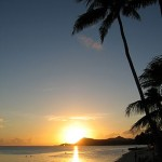 Sonnenuntergang auf Bora Bora
