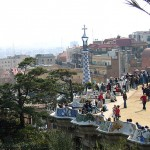 Gaudi: Terrasse im Park Guell