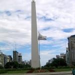 Obelisk an der Avenida 9 de Julio in Buenos Aires