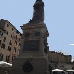 Bronzestatue des Philosophen Giordano Bruno