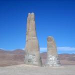"Skulptur ""La Mano del Desierto"""