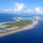 blaue Lagune in Rangiroa