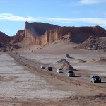 Straße durch das Valle de la luna