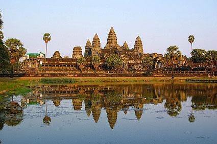 Angkor Wat - Tempelanlage mit See am Mekong