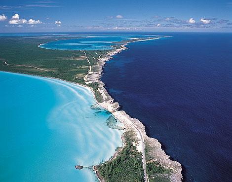 Natural Bridge auf den Bahamas