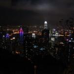 Blick vom Hongkong Victoria Peak bei Nacht