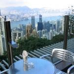 Blick vom Hongkong Victoria Peak Restaurant