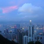 Hongkong Skyline am Abend