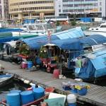 schwimmender Markt in Hongkong