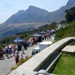 Warteschlange an der Tafelberg Seilbahn