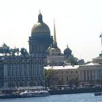 Isaak Kathedrale mit Admiralität im Vordergrund