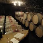 Weinkeller im Burgund zur Degustation
