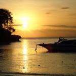 Sonnenuntergang am Mushroom Beach