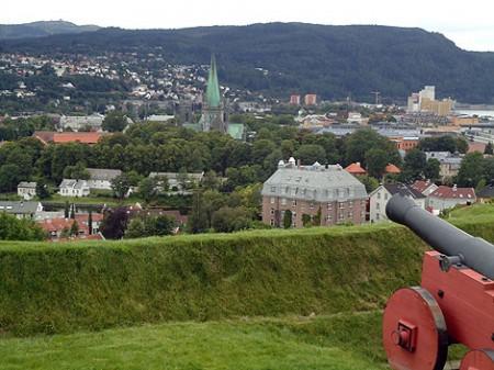 Aussicht von der Festung Kristiansten auf Trondheim