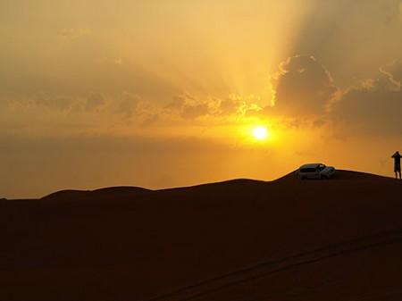toller Sonnenuntergang in der Wüste
