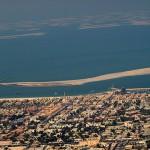 Dubai The World im Hintergrund