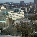 Brandenburger Tor von der Reichstagskuppel