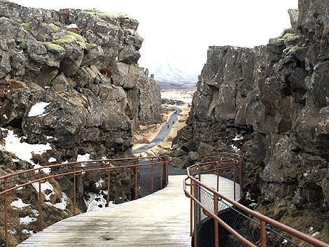 Þingvellir Kontinentalplatten