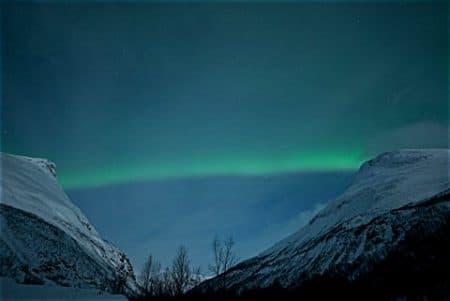 Nordlicht als Balken
