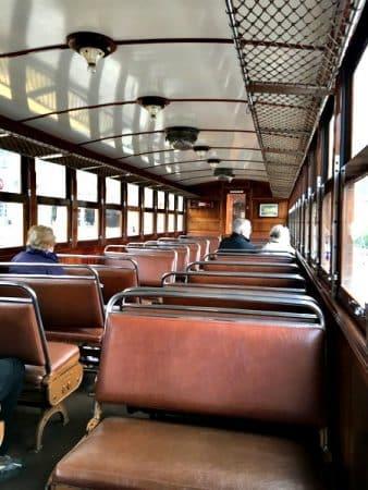 Abteil im Zug nach Soller